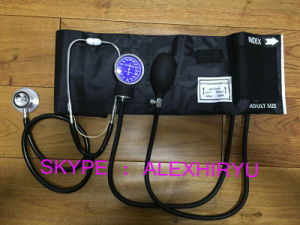 Manual Blood Pressure Kit Sphygmomanometer Stethoscope Kit pictures & photos