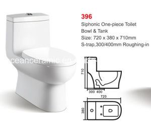 Ceramic Siphonic One-Piece Toilet (No. 396) Bathroom Sanitaryware pictures & photos