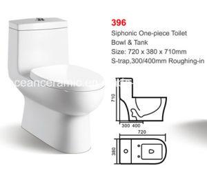 Ceramic Siphonic One-Piece Toilet (No. 396) Bathroom Sanitaryware pictures & photos