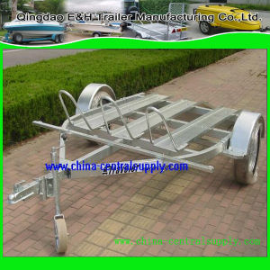 3.4m Double Motorcycle Trailer pictures & photos