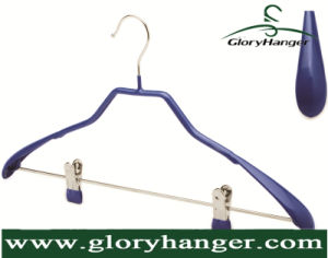 Hanger Factory Wholesale Metal Hanger with PVC Coatting pictures & photos