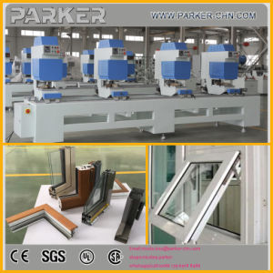 Four Head Seamless Welding Machine for PVC Window, PVC Window Welding Cleaning Machine Line pictures & photos