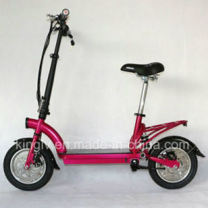 Cheap Carbon Steel Frame Electric Scooter with 300W Hub Motor pictures & photos