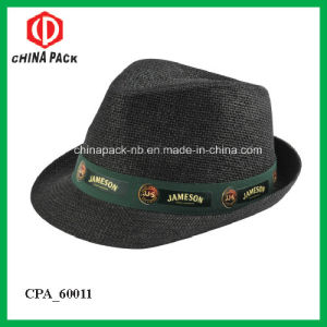 Promotional Cheap Paper Straw Feodara Hats with Printing Logo (CPA_60025) pictures & photos
