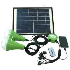 Solar Home Lighting System, 9W 6V Solar Panel, Lithium Battery pictures & photos