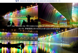 2011 150-Meter Long Bridge Colorful Landscape Water Fountains in Iran pictures & photos