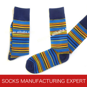 Men′s Custom Bamboo Pattern Sock pictures & photos
