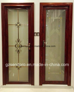Interior Frosted Glass Aluminum Bathroom Door