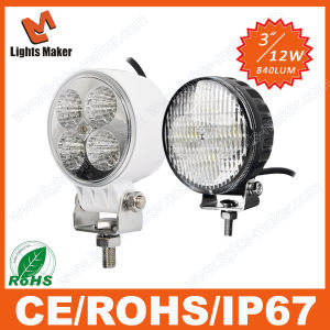 12W LED Machine Work Lights for Tractors and Vehicles Offroad LED Light