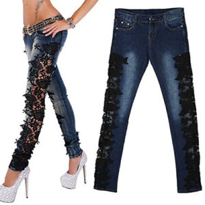 OEM Ladies Fashion Skinny Slim Stretch Denim Jeans