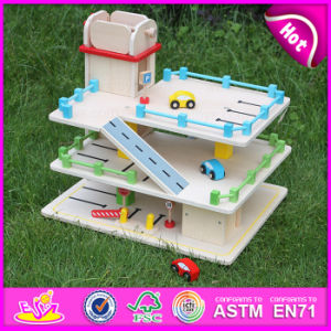 2015 Hot Item Kids Wooden Parking Garage Toy, Children Car Parking Garage Toy, Christmas Gift Parking Lot Toy for DIY Toy W04b024 pictures & photos