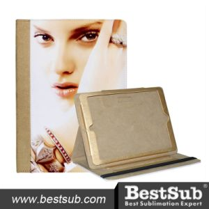 Bestsub New Arrival Sublimation Tablet Case for iPad Air Golden PU Case (IPD18G) pictures & photos