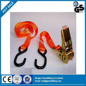 25mm 800kg S Hook Ratchet Tie Down pictures & photos
