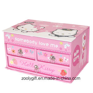 Lovely Gift Music Jewelry Storage Gift Box with Drawer and Mirror pictures & photos
