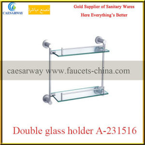 Sanitary Ware Bathroom Accessories All Brass Double Glass Holder pictures & photos