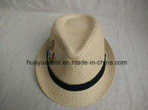 100% Paper with Embroider Fedora Hats pictures & photos