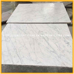 Polished Bianco Carrara White Marble Floor Tile for Bathroom & Kitchen pictures & photos