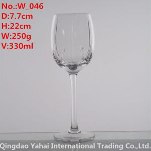 330ml Clear Colored Wine Glass pictures & photos