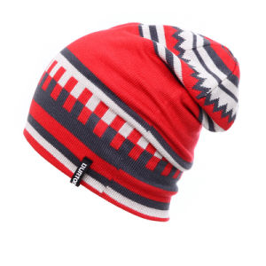 Fashion Jacquard Acrylic Knitted Winter Warm Ski Sports Hats (YKY3137-2) pictures & photos