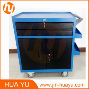 Movable 2 Lockable Doors and Drawers Sheet Metal Garage Tool Chest pictures & photos