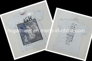 Kids Wear Lovely White Cartoon Cotton Shirt for Boy pictures & photos