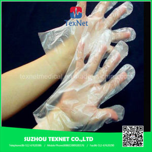 HDPE/LDPE Disposable PE Gloves for Food Industry pictures & photos