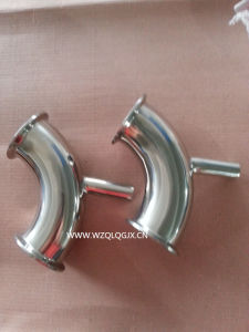Sanitary Stainless Steel Welded Tube Clamped Elbow pictures & photos