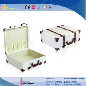 Fancy Ladies′ PU Leather Storage Suitcase (1675) pictures & photos