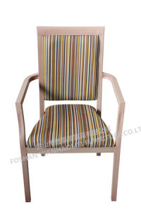 Aluminum Imitated Wooden Chair for Dining Room