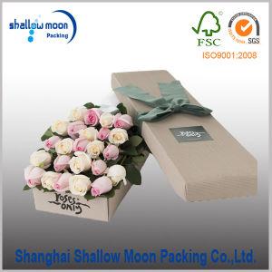 Custom Handmade Round Flower Packing Box (QYZ385) pictures & photos