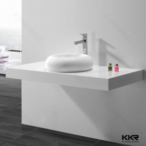 Designer White Above Counter Sink Solid Surface Bathroom Wash Basin pictures & photos