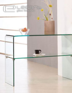 Popular Simple Glass Console Table pictures & photos