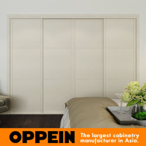 Oppein Modern White Built-in Sliding Melamine Wooden Wardrobe (YG16-M05) pictures & photos