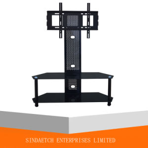 3 Tiers Rhombic Tempered Glass Plasma TV Stand pictures & photos