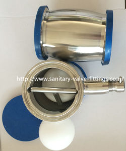 38mm Sanitary Stainless Steel Ball Type Check Valve Welded with Drain pictures & photos