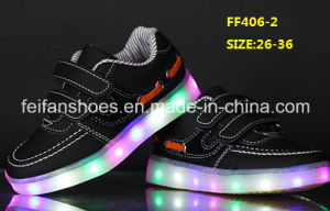 New Design Flash Luminous Light LED Shoes Children LED Shoes (FF406-2) pictures & photos