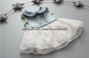 High Quality Little Girls Denim Jeans Dress Children Wear pictures & photos