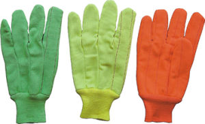 Hi Viz Fluorescent Cotton Work Glove--2105 pictures & photos