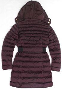 Women′s Winter Long Coat with Belt and Detachable Fur Hood pictures & photos