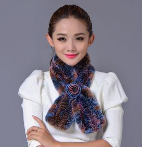 Women Fashion 100% Rex Rabbit Fur Winter Scarf (YKY4396) pictures & photos