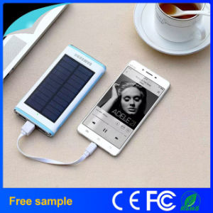 Grade a Lithium Polymer Battery 12000mAh Super Thin Solar Power Bank pictures & photos