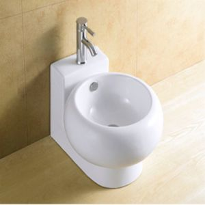 Bathroom White Glazed Ceramic Hand Wash Basin pictures & photos