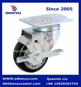 Black Caster Wheel with Screw Stem pictures & photos