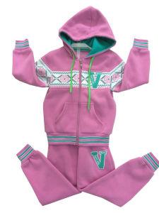 Winter Fleece Kids Girl Sport Suit in Children ′s Wear Swg-137