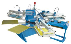 Spe Automatic 4 Color Nonwoven Bag Screen Printing Machine/Nonwoven Screen Printer pictures & photos
