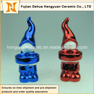 Lovely Colorful Plating Christmas Girl Candle Holders pictures & photos