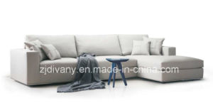 European Style Living Room Fabric Sofa Set (D-72-F+H) pictures & photos