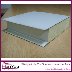 Customized Thicking 200mm Color Steel Polyurethane PU Sandwich Panel for Wall pictures & photos