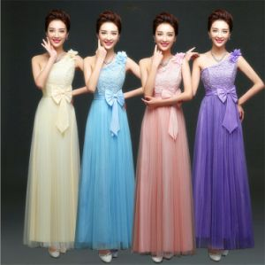 D1181 Hot Selling Cheap One-Shoulder Bridesmaids Dresses pictures & photos