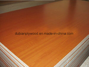 Wood Grain Melamine Particle Board for Furniture Use pictures & photos